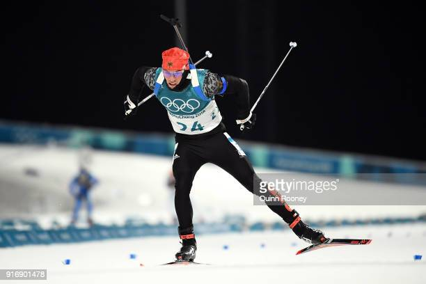 Simon Schempp of Germany competes during the Men's 10km Sprint Biathlon on day two of the PyeongChang 2018 Winter Olympic Games at Alpensia Biathlon...