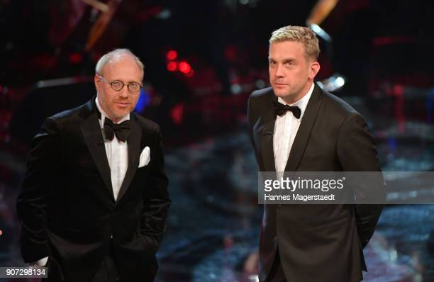 Simon Schwarz and Sebastian Bezzel during the Bayerischer Filmpreis 2018 at Prinzregententheater on January 19 2018 in Munich Germany