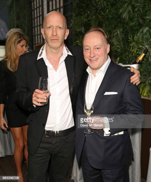 Simon Sebag Montefiore and Professor Andrew Roberts attend the launch of the Cliveden Literary Festival at 11 Cadogan Gardens hotel on May 15 2017 in...
