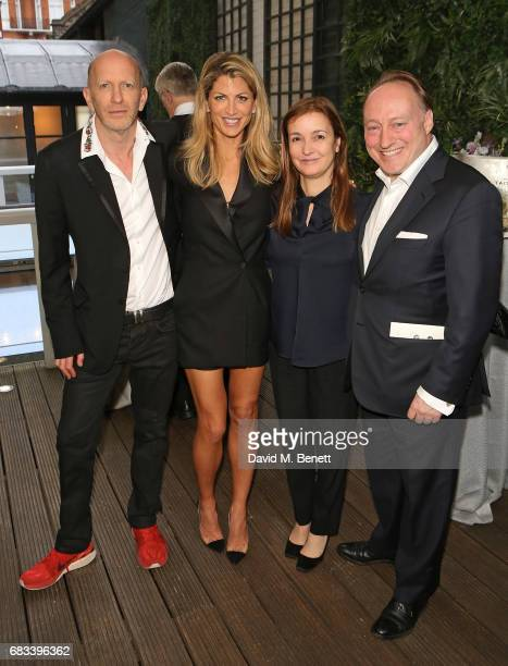 Simon Sebag Montefiore Natalie Livingstone Catherine Ostler and Professor Andrew Roberts attend the launch of the Cliveden Literary Festival at 11...