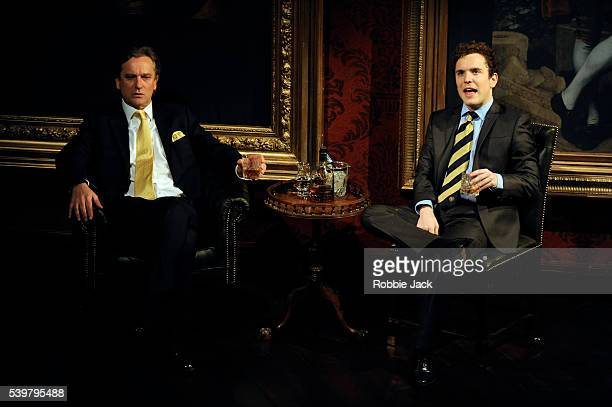 Simon Shepherd as Jeremy and Joshua McGuire as Guy Bellingfield in Laura Wade's Posh directed by Lyndsey Turner at the Duke of York's Theatre in...