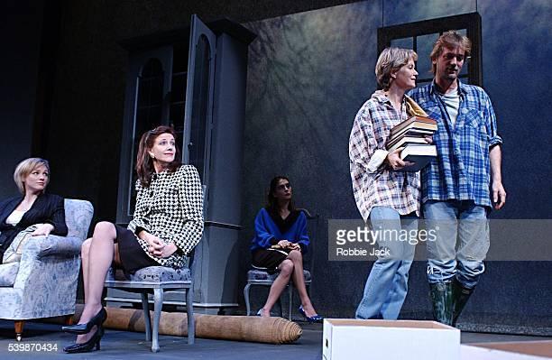 Simon Shepherd Jenny Seagrove Belinda Lang Melanie Gutteridge and Liza Walker in David Hare's The Secret Rapture at the Lyric Theatre