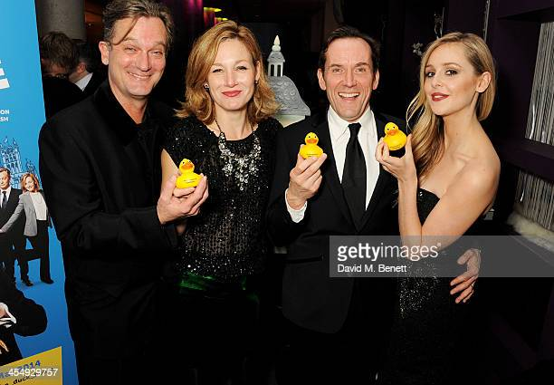 Simon Shepherd Nancy Carroll Ben Miller and Diana Vickers attend an after party celebrating the press night performance of The Duck House at The...