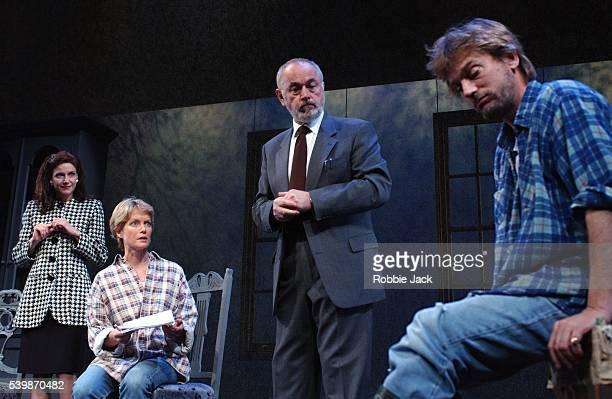 Simon Shepherd Peter Egan Jenny Seagrove and Belinda Lang in David Hare's The Secret Rapture at the Lyric Theatre
