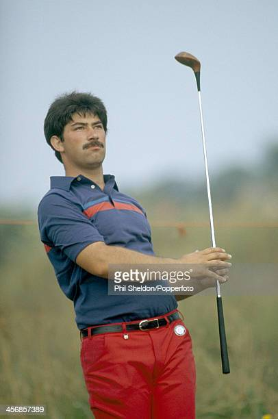 Simon Sherratt tracking his tee shot during the British Open Golf Championship held at the Royal Birkdale Golf Club Merseyside circa July 1983