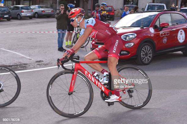 Simon Spilak of Slovenia / during the 53rd TirrenoAdriatico 2018 Stage 4 a 219km stage from Foligno to Sarnano Sassotetto 1335m on March 10 2018 in...