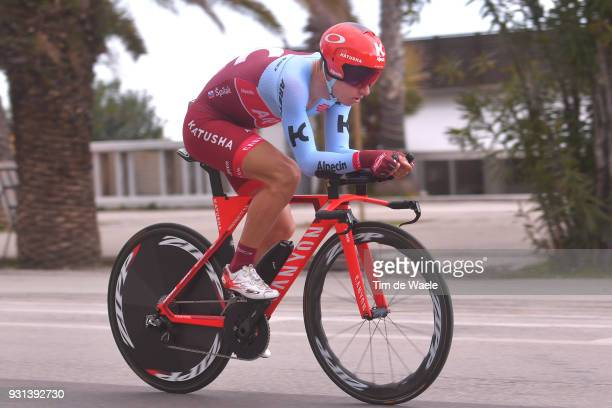 Simon Spilak of Slovenia during the 53rd TirrenoAdriatico 2018 Stage 7 a 105km Individual Time Trial stage in San Benedetto Del Tronto on March 13...