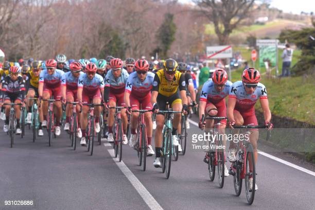 Simon Spilak of Slovenia / Jose Goncalves of Portugal / Maarten Wynants of Belgium / during the 53rd TirrenoAdriatico 2018 Stage 6 a 153km stage from...