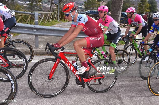 Simon Spilak of Slovenia Simon Clarke of Australia / Peloton / during the 53rd TirrenoAdriatico 2018 Stage 4 a 219km stage from Follonica to Sarnano...