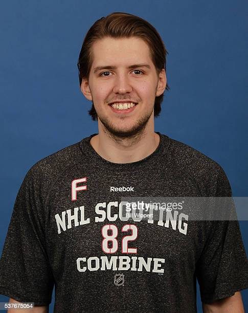Simon Stransky poses for a headshot at the 2016 NHL Combine on June 2 2016 at Harborcenter in Buffalo New York