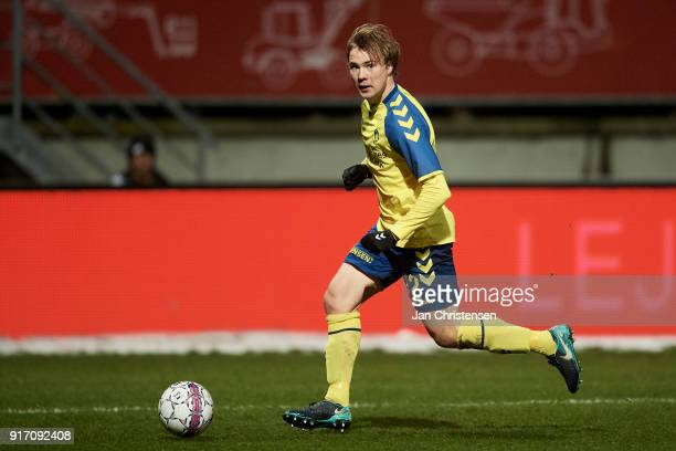 Simon Tibbling in action during the Danish Alka Superliga match between Lyngby BK and Brondby IF at Lyngby Stadion on February 11 2018 in Lyngby...