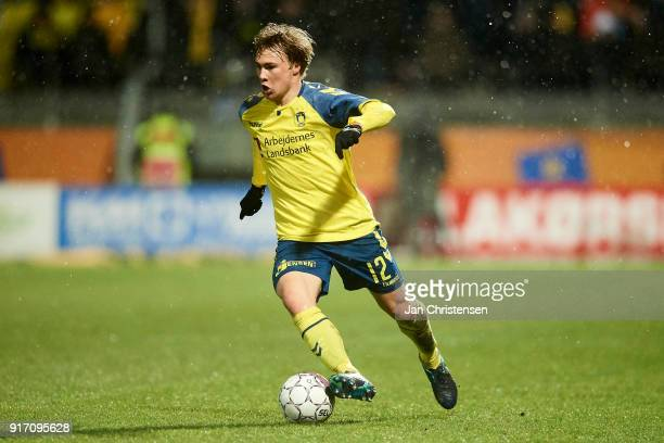 Simon Tibbling of Brondby IF in action during the Danish Alka Superliga match between Lyngby BK and Brondby IF at Lyngby Stadion on February 11 2018...