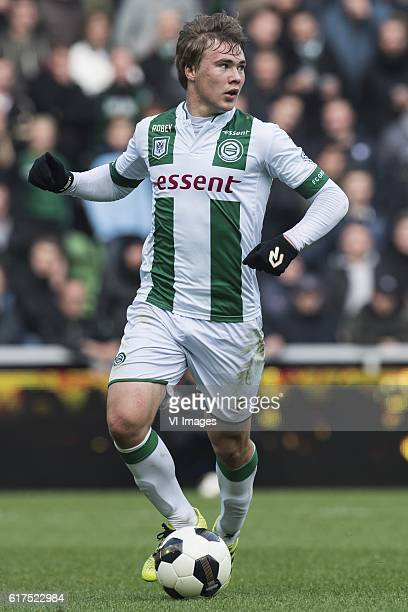 Simon Tibbling of FC Groningenduring the Dutch Eredivisie match between FC Groningen and AZ at Noordlease stadium on October 23 2016 in Groningen The...