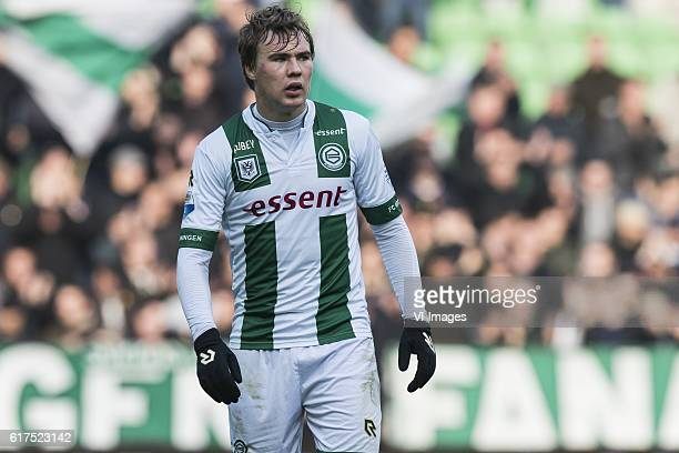 Simon Tibbling of FC Groningenduring the Dutch Eredivisie match between FC Groningen and AZ at Noordlease stadium on October 23 2016 in Groningen The...
