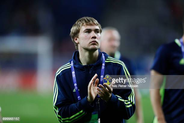 Simon Tibbling of Sweden after the UEFA European Under21 match between Slovakia and Sweden at Arena Lublin on June 22 2017 in Lublin Poland