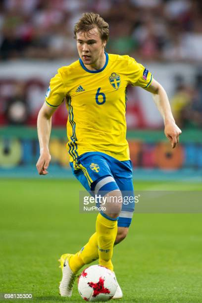 Simon Tibbling of Sweden during the UEFA European Under21 Championship 2017 Group A match between Poland and Sweden at Lublin Stadium in Lublin...