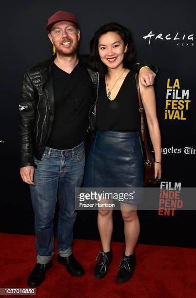 Simon Trevorron Nikki Tran attend the 2018 LA Film Festival Opening Night Premiere Of 'Echo In The Canyon' at John Anson Ford Amphitheatre on...