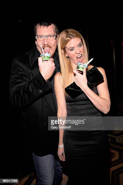 Simon Van Kampen and television personality Alex McCord attend the premiere of 'Kell on Earth' at the Tribeca Grand Hotel on February 1 2010 in New...