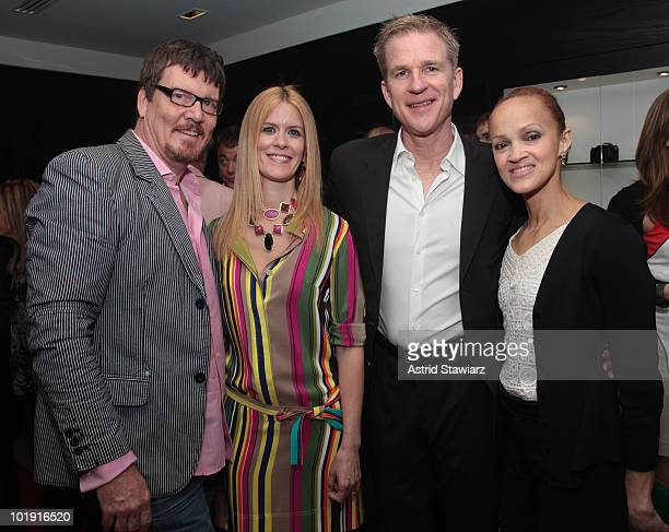 Simon Van Kempen Alex McCord Matthew Modine and Cari Modine attend the opening of the Leica Boutique at the Willoughby's Imaging Center on June 8...