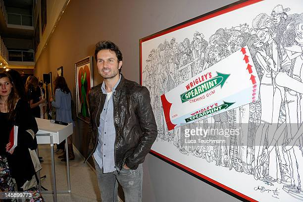 Simon Verhoeven attends the Fugger Bergonzoli vernissage at Einstein Gallery on June 7 2012 in Berlin Germany