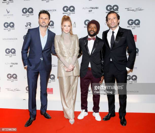 Simon Verhoeven Palina Rojinski Eric Kabongo and Quirin Berg arrive for the GQ Men of the year Award 2017 at Komische Oper on November 9 2017 in...