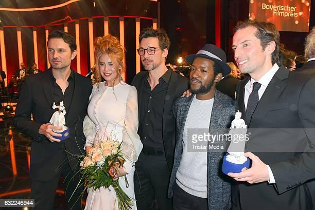 Simon Verhoeven Palina Rojinski Florian David Fitz Eric Kabongo and Quirin Berg attend the Bayerischer Filmpreis 2017 at Prinzregententheater on...