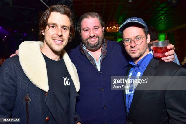 Simon Walton Adam Atenasio and Bobby Waltzer attend Yellowstone Forever Young Patrons Benefit hosted by Arielle Patrick Jackie Rooney and Alice Ryan...
