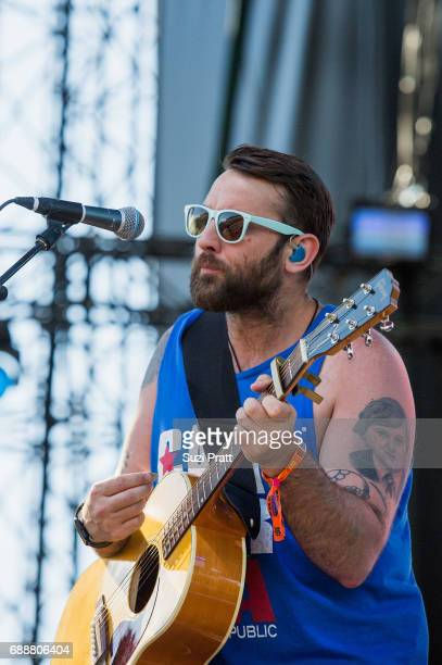Simon Ward of The Strumbellas performs at the Sasquatch Music Festival at Gorge Amphitheatre on May 26 2017 in George Washington