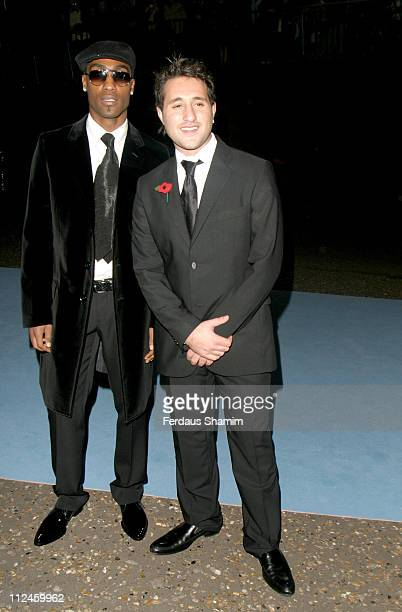 Simon Webb and Anthony Costa of Blue during Lottery Helping Hands Awards Gala Arrivals at Tate Modern in London Great Britain