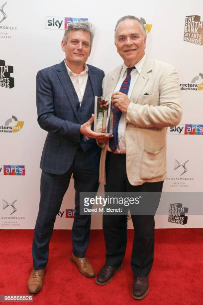 Simon Webb and Sir Mark Elder CBE attend The South Bank Sky Arts Awards 2018 at The Savoy Hotel on July 1 2018 in London England