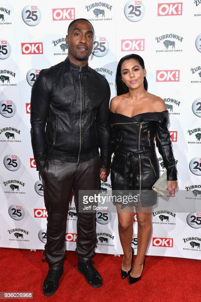 Simon Webbe and Ayshen Kemal attend OK Magazine's 25th Anniversary Party at The View from The Shard on March 21 2018 in London England