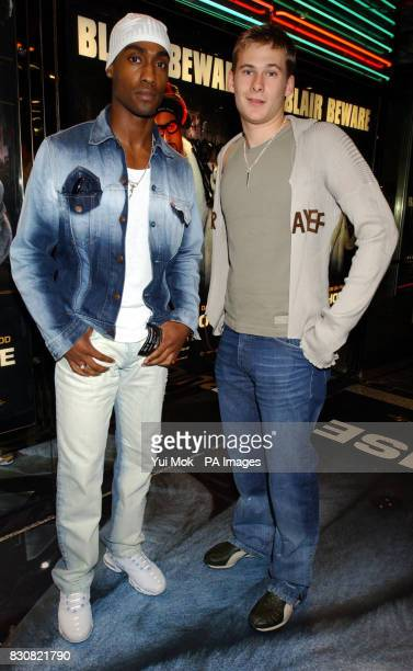 Simon Webbe and Lee Ryan from boy band Blue arriving at the Empire Cinema in London's Leicester Square for the premiere of Ali G InDaHouse