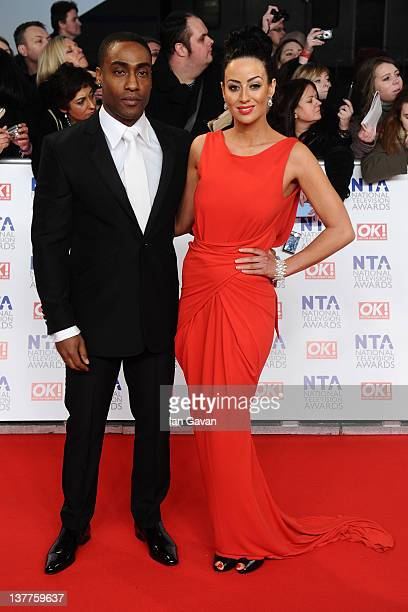 Simon Webbe and Maria Kouka attend the National Television Awards 2012 at the 02 Arena on January 25 2012 in London England