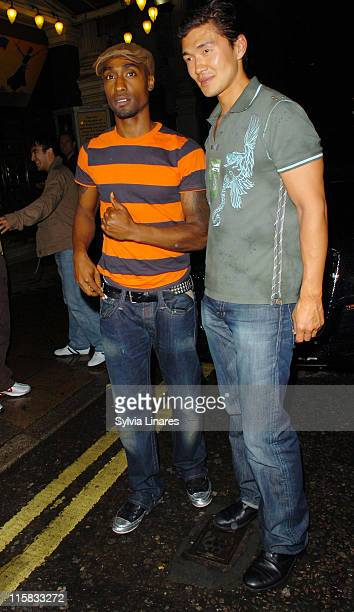 Simon Webbe and Rick Yune during Celebrity Sightings at Movida Club in London June 13 2007 at Movida Club in London Great Britain