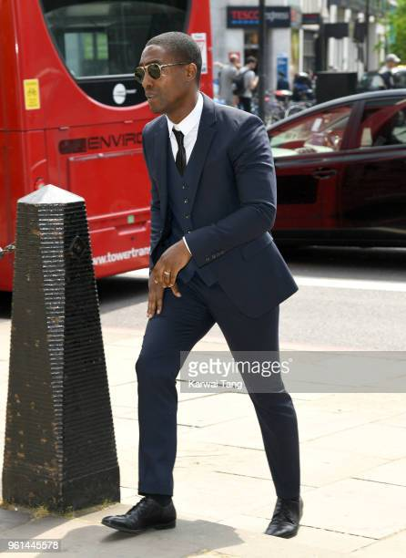 Simon Webbe attends the funeral of Dale Winton at the Old Church 1 Marylebone Road on May 22 2018 in London England