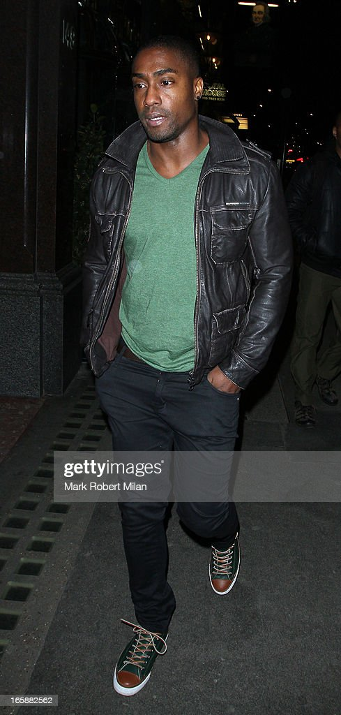 Simon Webbe dines at Buddha Bar on April 6, 2013 in London, England.