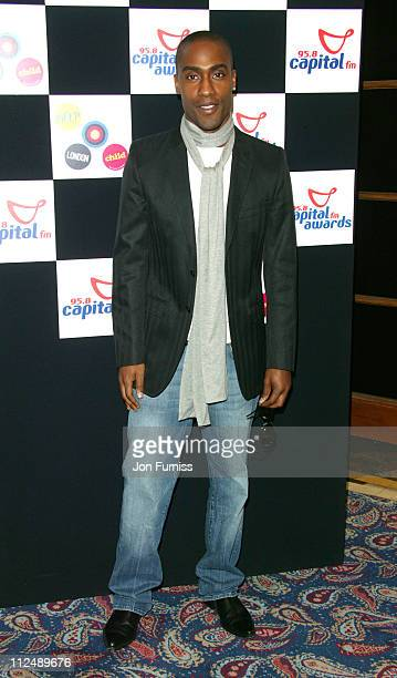 Simon Webbe during The 2005 958 Capital FM Awards Inside Arrivals at Royal Lancaster Hotel in London Great Britain