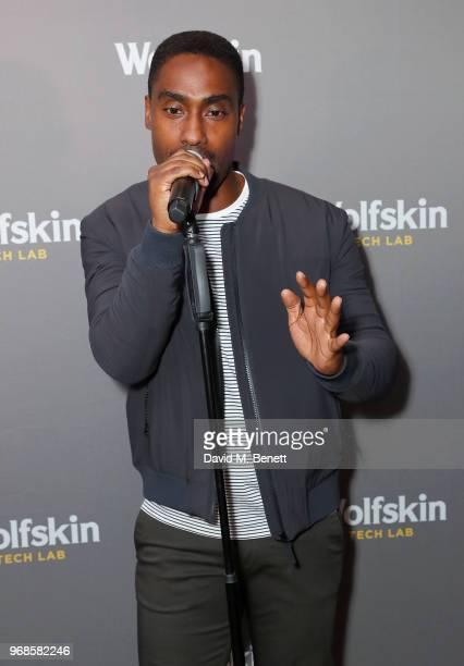 Simon Webbe from Blue performs on stage at the WolfskinTechLab Collection Preview AW18 at The Groucho Club on June 6 2018 in London England