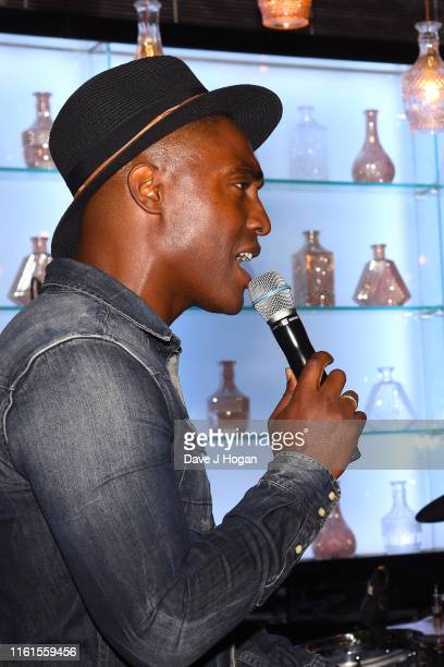 Simon Webbe of Blue performs during The Paul Strank Charity Summer Party at Opium on July 11 2019 in London England