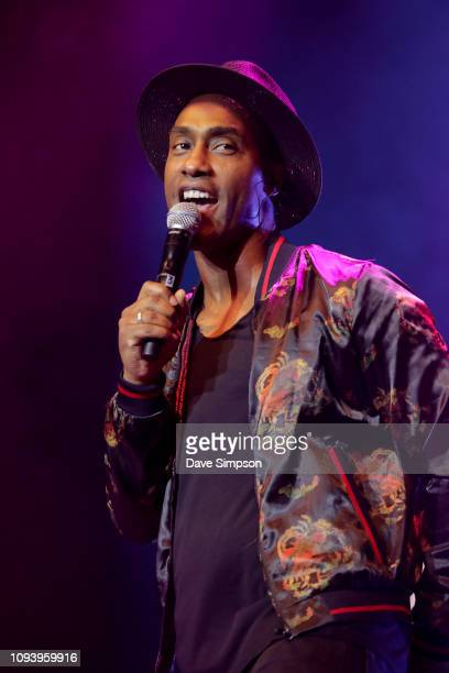 Simon Webbe of the band Blue performs during So POP at Spark Arena on February 5 2019 in Auckland New Zealand