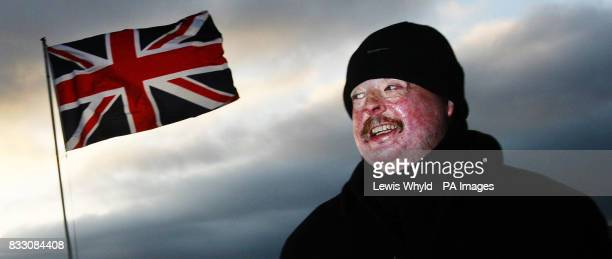 Simon Weston in Stanley in the Falkland Islands where they are flying the Union Jack on the evening of 'liberation day' on the 25th anniversary of...