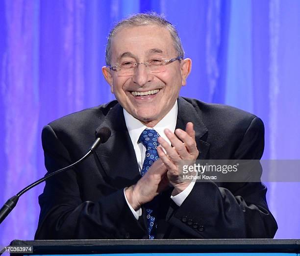 Simon Wiesenthal Center Founder Rabbi Marvin Hier presents onstage at the Simon Wiesenthal Center National Tribute Dinner at Regent Beverly Wilshire...