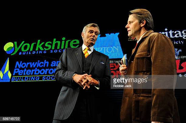 Simon Williams as Harry Lovelock and Anthony Calf as The Author in David Hare's play 'The Power Of Yes' directed by Angus Jackson at the National...