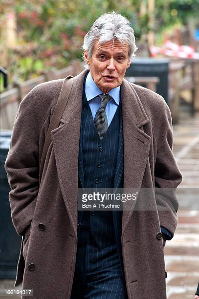Simon Williams attends a memorial for Dinah Sheridan an actress who starred in 'The Railway Children' at St Paul's Church on April 9 2013 in London...