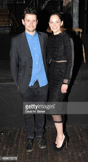 Simon Yates and Ruth Wilson attends an after party celebrating the press night performance of 'The El Train' at The Hellhole Saloon in Hoxton Hall on...