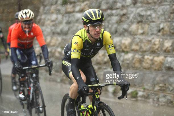 Simon Yates of Great Britain and MitcheltonScott during the 76th Paris Nice 2018 Stage 8 a 110km stage from Nice to Nice on March 11 2018 in Nice...