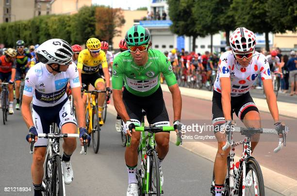 Simon Yates of Great Britain and Orica Scott Rigoberto Uran of Columbia and Cannondale Drapac Professional Cycling Team and Warren Barguil of France...