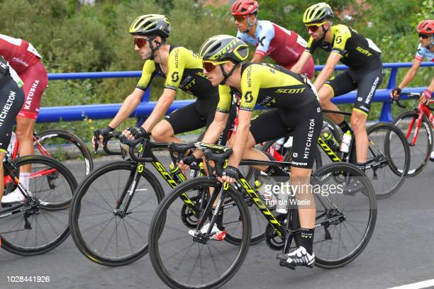 Simon Yates of Great Britain and Team MitcheltonScott / Adam Yates of Great Britain and Team MitcheltonScott / during the 73rd Tour of Spain 2018...