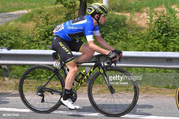 Simon Yates of Great Britain and Team Mitchelton-Scott Blue Mountain Jersey / during the 101st Tour of Italy 2018, Stage 20 a 214km stage from Susa...