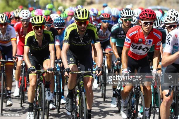 Simon Yates of Great Britain and Team Mitchelton-Scott / Damien Howson of Australia and Team Mitchelton-Scott / Michal Kwiatkowski of Poland and Team...